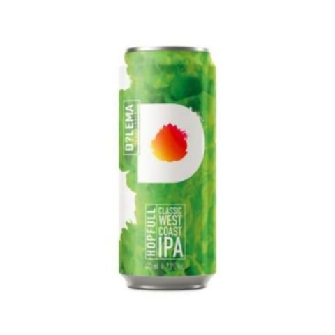 Cerveja Dilema Hopfull Classic West Coast IPA Lata - 473ml