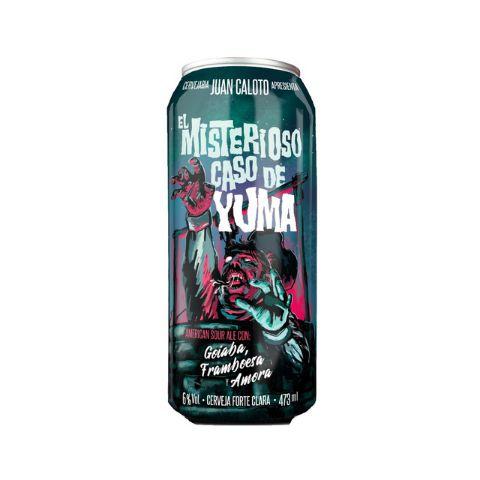 Cerveja Juan Caloto El Misterioso Caso de Yuma American Sour Ale C/ Goiaba, Framboesa e Amora Lata - 473ml