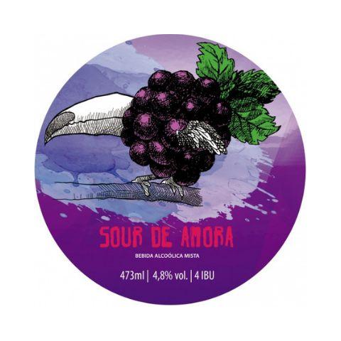 Cerveja Bodoque Sour de Amora Berliner Weisse C/ Amora Lata - 473ml