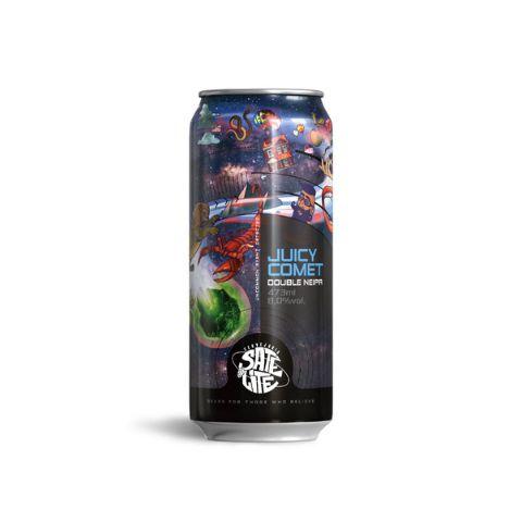 Cerveja Satélite Juicy Comet Double New England IPA Lata - 473ml