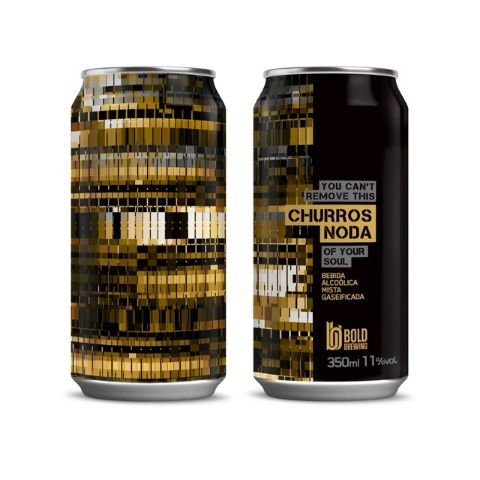 Cerveja Bold Brewing Churros Noda Imperial Sweet Stout C/ Doce de Leite, Canela e Lactose Lata - 350ml