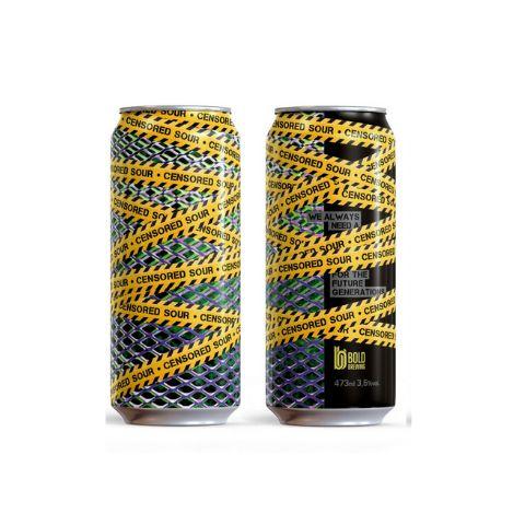 Cerveja Bold Brewing Censored Sour Berliner Weisse C/ Abacaxi, Hortelã, Gengibre e Espirulina Lata - 473ml
