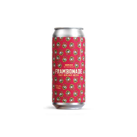 Cerveja Synergy + Narcose Frambonade Berliner Weisse C/ Framboesa e Limão Tahiti Lata - 473ml