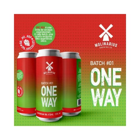 Cerveja Molinarius One Way Batch #01 West Coast IPA Lata - 473ml