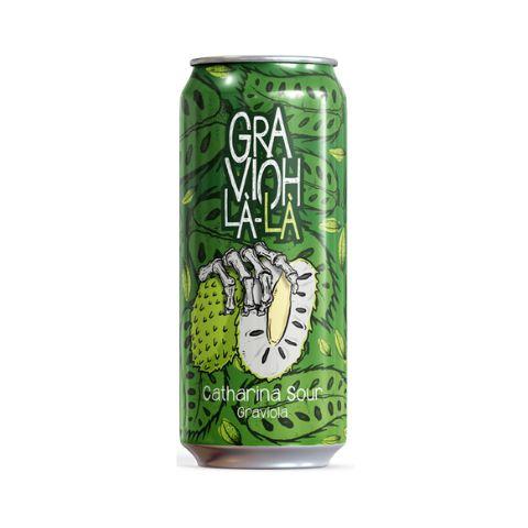 Cerveja Overhop GraviOh-Là-Là Catharina Sour C/ Graviola Lata - 473ml