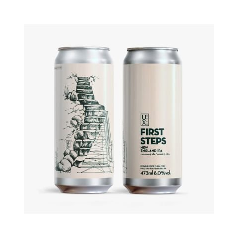 Cerveja UX Brew First Steps New England IPA C/ Coco Lata - 473ml