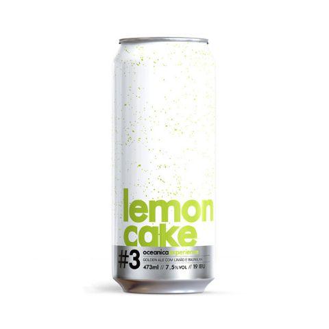 Cerveja Oceânica Lemon Cake Golden Ale C/ Limão e Baunilha Lata - 473ml