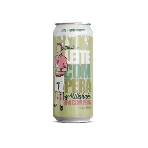 Cerveja Dádiva + Sommelier da Depressão Criado A Leite Com Pêra Milkshake IPA C/ Pêra Lata - 473ml