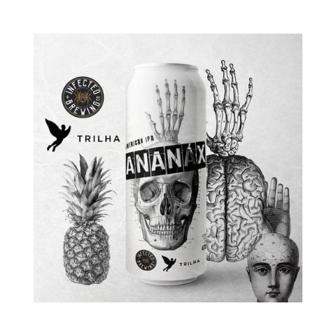 Cerveja Infected Brewing + Trilha Ananáx Juicy IPA C/ Abacaxi Lata - 473ml
