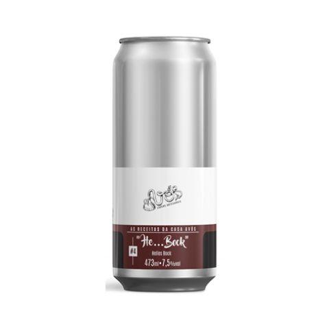 "Cerveja Avós ""He...Bock"" Helles Bock Lata - 473ml"