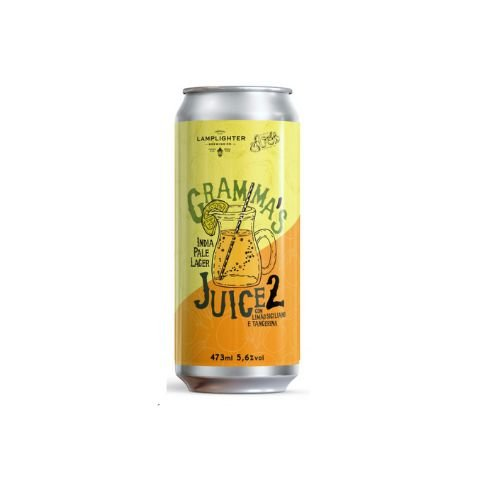 Cerveja Avós + Lamplighter Brewing Gramma's Juice 2 New England India Pale Lager C/ Tangerina e Limão Siciliano Lata - 473ml