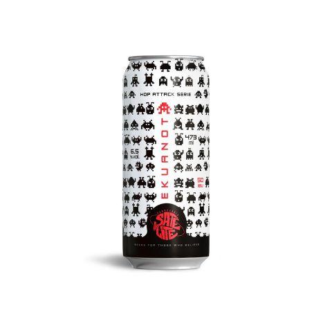 Cerveja Satélite Hop Attack Ekuanot New England IPA Lata - 473ml