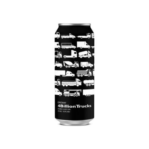 Cerveja Croma 4 Billion Trucks Double New England IPA Lata - 473ml