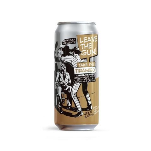 Cerveja Mafiosa Leave The Gun! Take The Tiramisù Double Milky Stout C/ Lactose, Café, Cacau e Baunilha Lata - 473ml