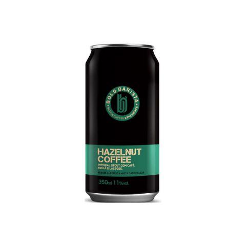 Cerveja Bold Brewing Bold Barista Hazelnut Coffee Imperial Stout C/ Café, Avelã e Lactose Lata - 350ml