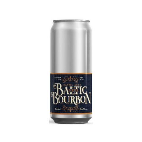 Cerveja Avós + Hey Hops Baltic Bourbon Baltic Porter Bourbon Barrel Aged Lata - 473ml