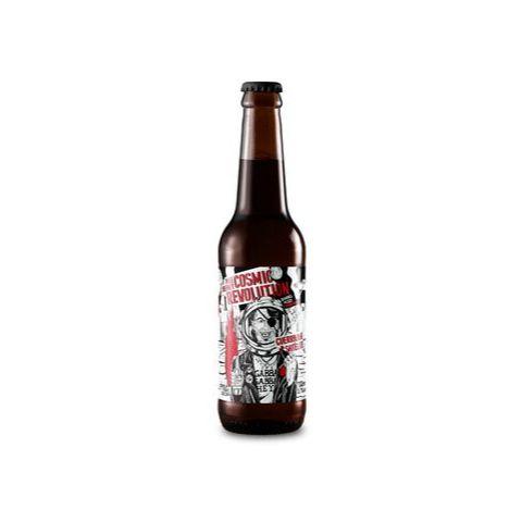 Cerveja Satélite + Guerrilha Cosmic Revolution Wee Heavy Amburana Barrel Aged - 355ml
