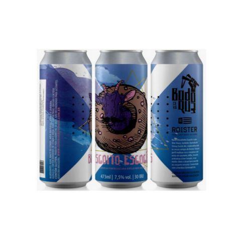 Cerveja Bodoque + Roister Biscoito Escocês Wee Heavy Lata - 473ml
