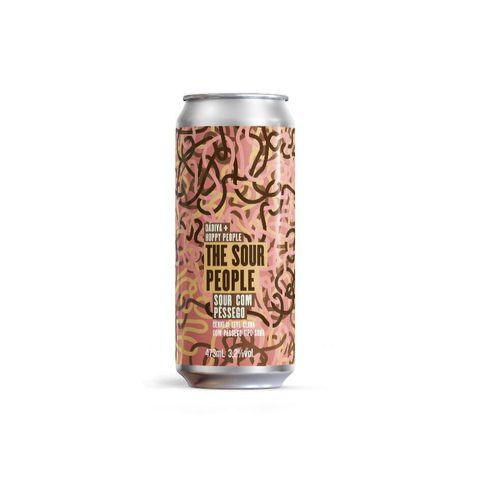 Cerveja Dádiva + Hoppy People The Sour People Berliner Weisse C/ Pêssego Lata - 473ml