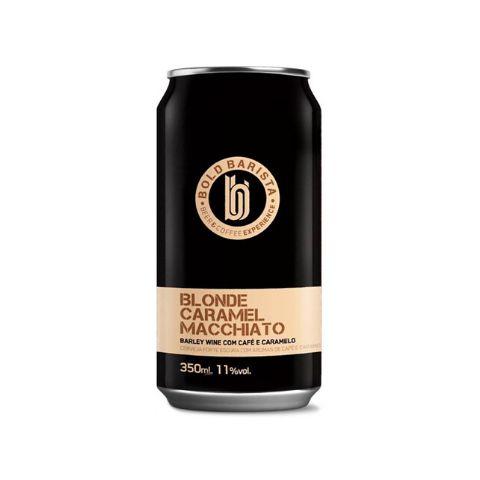 Cerveja Bold Brewing Bold Barista Blonde Caramel Macchiato Barley Wine C/ Café e Caramelo Lata - 350ml