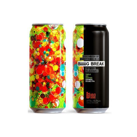 Cerveja Bold Brewing BiiiiiiG Break TDH Oatmeal Double IPA Lata - 473ml