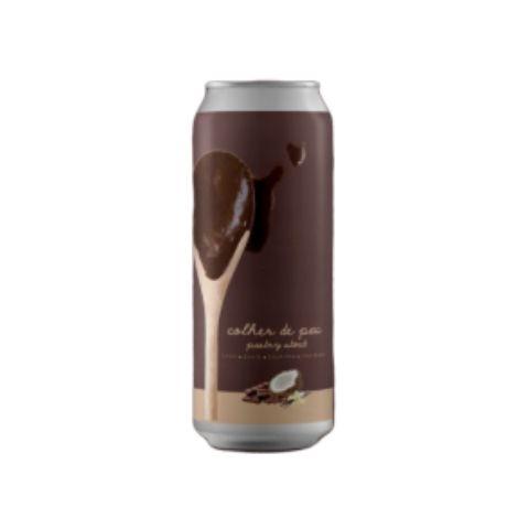 Cerveja Tábuas Colher de Pau Pastry Stout C/ Coco, Avelã, Baunilha, Chocolate e Lactose Lata - 473ml