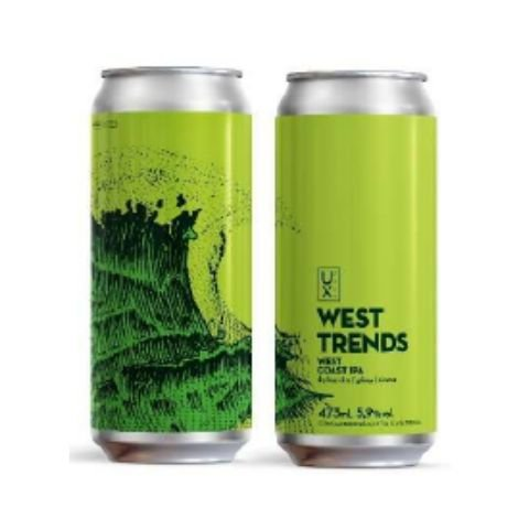 Cerveja UX Brew West Trends West Coast IPA Lata - 473ml