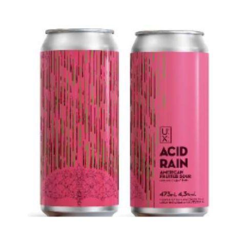 Cerveja UX Brew Acid Rain Fruited Sour Ale C/ Uva, Cajú e Limão Lata - 473ml