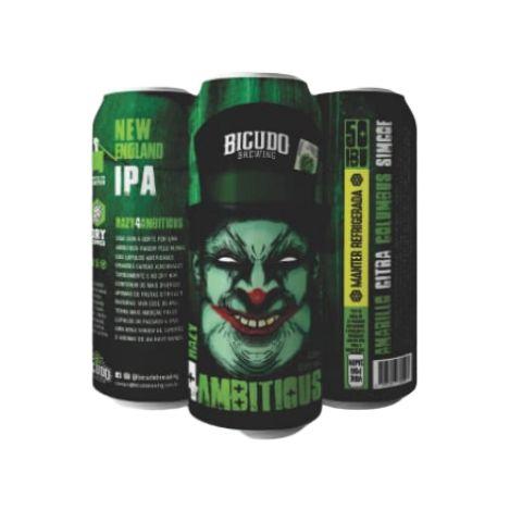Cerveja Bicudo Brewing Hazy 4 Ambitious New England IPA Lata - 473ml