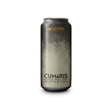 Cerveja MinduBier CumaRIS 2019 Brazilian Imperial Stout C/ Café, Cacau, Licuri, Cumaru e Lactose Lata - 473ml