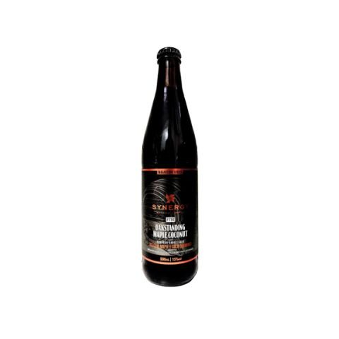 Cerveja Synergy Magnitude Series Oakstanding Maple Coconut Russian Imperial Stout Bourbon Barrel Aged C/ Maple e Coco Queimado - 500ml