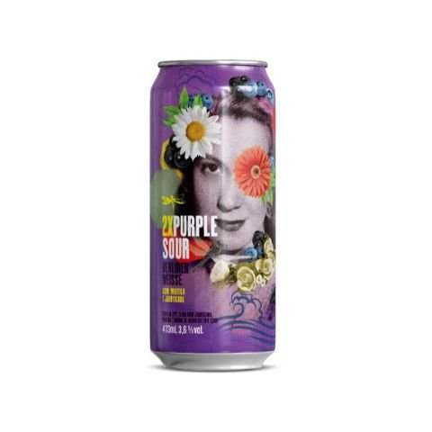 Cerveja Dádiva Double Purple Sour Berliner Weisse C/ Mirtilo, Jabuticaba e Baunilha Lata - 473ml