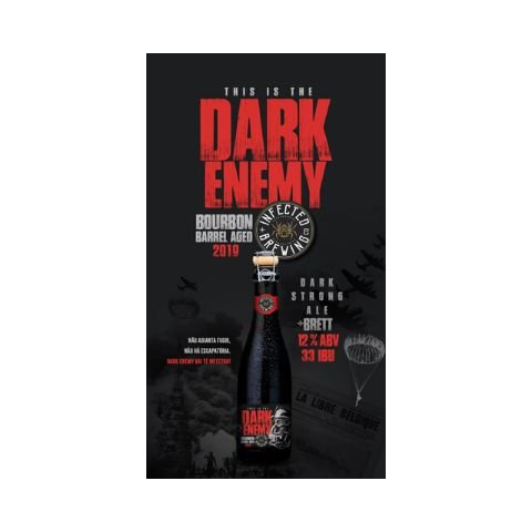 Cerveja Infected Brewing Dark Enemy Bourbon Barrel Aged 2019 Belgian Dark Strong Ale C/ Brettanomyces - 375ml