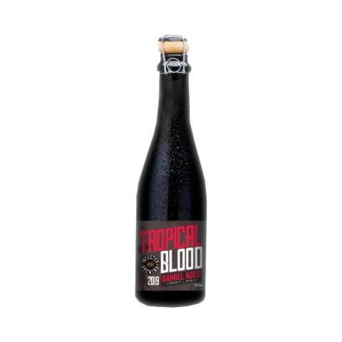 Cerveja Infected Brewing Tropical Blood Wine Barrel Aged 2019 -Berliner Weisse C/ Frutas Vermelhas e Casca de Laranja - 375ml
