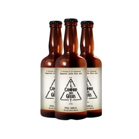 Cerveja La Caminera + 3 Orelhas Caminho das Gerais Double Rye IPA Lata - 473ml