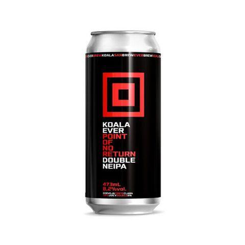 Cerveja EverBrew + Koala San Brew Point Of No Return Double New England IPA Lata - 473ml