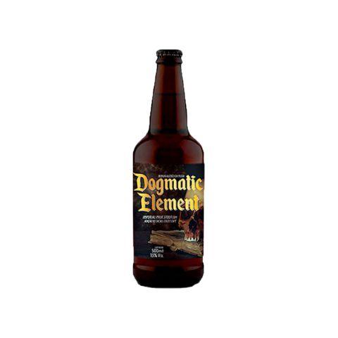 Cerveja 5 Elementos + Dogma Dogmatic Element 2020 Imperial Milk Stout C/ Coco, Café, Cacau e Lactose - 500ml