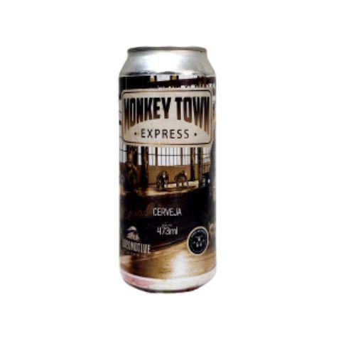 Cerveja Locomotive Brew + Three Monkeys Monkey Town Express Triple IPA Lata - 473ml