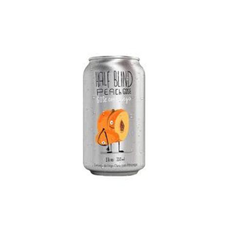 Cerveja Synergy + Narcose Half Blind Peach Gose Gose C/ Pêssego Lata - 350ml