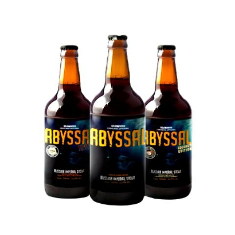 Kit Cerveja 5 Elementos Abyssal Russian Imperial Stout (Regular, Coffee e Coconut) 3 Garrafas - 500ml