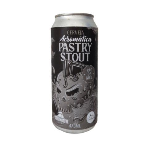 Cerveja Locomotive Brew + Joy Project Acromática Pastry Stout Pão de Mel Lata - 473ml