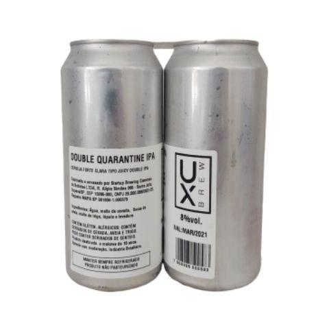 Cerveja UX Brew Double Quarantine IPA Double Juicy IPA Lata - 473ml