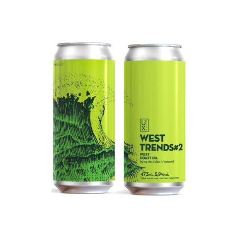 Cerveja UX Brew West Trends #2 West Coast IPA Lata - 473ml