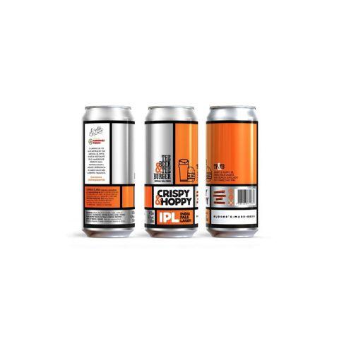 Cerveja Avós The Beer & The Burguer Crispy & Hoppy India Pale Lager Lata - 473ml