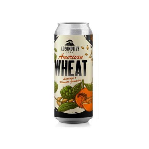 Cerveja Locomotive Brew American Wheat Laranja e Pimenta Jamaica Lata - 473ml