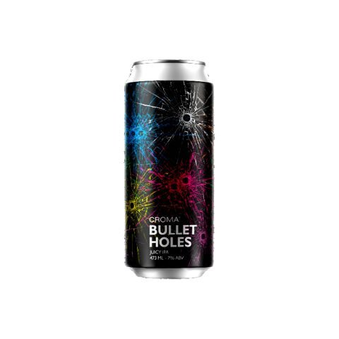 Cerveja Croma Bullet Holes Juicy IPA Lata - 473ml