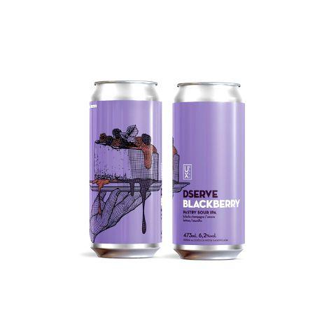 Cerveja Ux Brew Dserve Blackberry Pastry Sour IPA C/ Bolacha Champagne, Amora, Lactose e Baunilha Lata - 473ml
