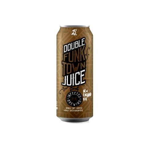 Cerveja Infected Brewing Double FunkTown Juice Double New England IPA Lata - 473ml