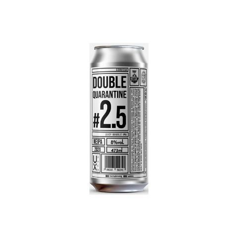 Cerveja UX Brew Double Quarantine #2.5 Juicy Double IPA Lata - 473ml