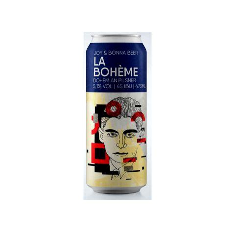 Cerveja Joy Project + Bonna Beer La Bohème Bohemian Pilsner Lata - 473ml